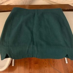 Hunter green wool skirt- jcrew